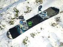 snowboard with bindings * 148cm,  good condition in Ramstein, Germany