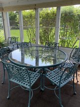 Outdoor table and 7 chairs in Naperville, Illinois