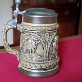 Brown German Stein with pewter lid. in Plainfield, Illinois