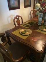 """Thomasville """"British Gentry"""" Dining Table and Chairs in Bellaire, Texas"""