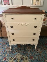 Antique Tall Solid Wood Dresser in Beaufort, South Carolina