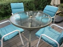 Outdoor Table/4 Chairs with Pads in Naperville, Illinois