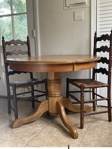 Solid Wood round kitchen table in Camp Lejeune, North Carolina