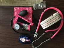 Blood pressure cuff, stethoscope. Heart rate watch in Plainfield, Illinois