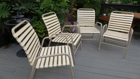 Set of 4 1970's FINKEL PATIO/DECK LAWN CHAIRS in Naperville, Illinois