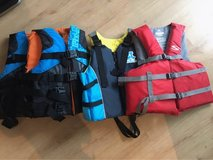 4 Life jackets Never been used in Okinawa, Japan