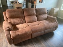 Microsuede Reclining Couch in Camp Lejeune, North Carolina