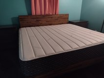 king size mattress with bed frame in Camp Lejeune, North Carolina