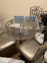 """48"""" Glass Dining Table with 4 chairs in Conroe, Texas"""