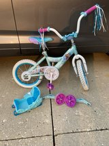 Huffy Frozen Bike with Training Wheels in St. Charles, Illinois