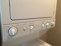 Frigidaire electric stacked washer/dryer in Bellaire, Texas