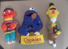 Cookie monster, Bern and Ernie (clay) in Alamogordo, New Mexico
