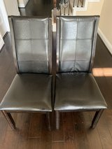 Tornillo Leather Brown Cherry Dining Chairs (Set of 2) in Bellaire, Texas