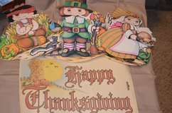 Thanksgiving hanging decorations in Fort Campbell, Kentucky