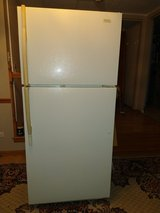 Used refrigerator, top freezer in Naperville, Illinois