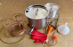 Large Stainless small aluminum brew pot with extras in Okinawa, Japan