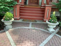 Large Cement Urns in Naperville, Illinois