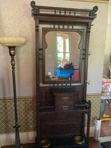 Antique Hall Tree and Floor lamp in Naperville, Illinois