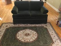 ETHAN ALLEN LOVESEAT - Forest Green, Excellent condition, Barely used in Naperville, Illinois