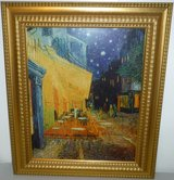 Framed Art The Cafe Terrace at Night Painting on Canvas in Naperville, Illinois