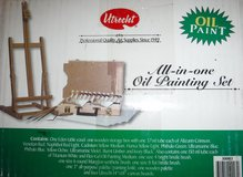 New! Utrecht Oil Painting Set - Easel Paints Palette Brushes Boards +more in Naperville, Illinois