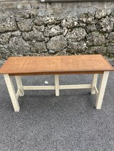 Wooden table in Okinawa, Japan