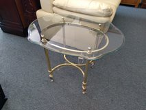 Glass and Brass Side Table in Bolingbrook, Illinois