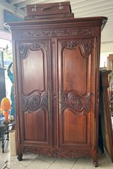 gorgeous armoire from Brittany with beautiful carvings in Stuttgart, GE