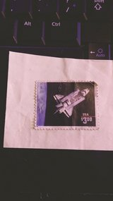 1995 space shuttle stamp in 29 Palms, California