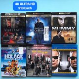 4k Ultra HD Movies $10 Each in Fort Campbell, Kentucky