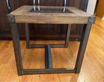 Wood & Metal End Table in St. Charles, Illinois