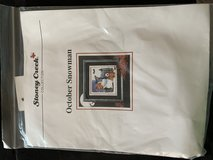 October Snowman counted cross stitch kit - Never Used!! in St. Charles, Illinois