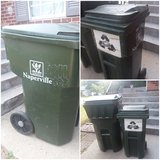 2 Naperville Garbage cans in Plainfield, Illinois