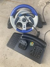 Mad Catz MC2 Microcon racing wheel and pedals for PlayStation 2 in Plainfield, Illinois