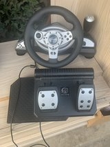 Pelican racing wheel and pedals for PlayStation 2 in Plainfield, Illinois