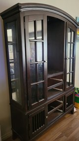 Dark Brown Wooden China Cabinet in 29 Palms, California