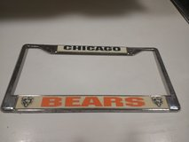 NFL Chicago Bears License Plate Cover in Naperville, Illinois