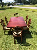 Duncan Phyfe Dining set Table and 6 Chairs in Cherry Point, North Carolina