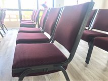 Quality Conference-style stacking padded chairs. ASAP in Okinawa, Japan