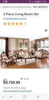 Solid wood 3 piece living room set in Nellis AFB, Nevada