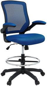 Drafting Chair with Flip Up Arms - Blue - New! in Naperville, Illinois
