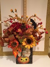 FALL FLORAL in HALLOWEEN TIN...NEW in Naperville, Illinois