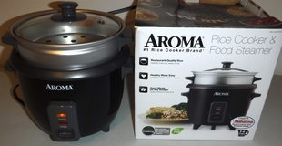 Aroma 2-6 cup Rice Cooker / Food Steamer in Naperville, Illinois