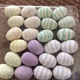 Set of 24 Small Handmade Knitted Eggs in Okinawa, Japan