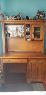 Solid wood desk with hutch in Naperville, Illinois