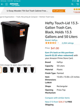 Hefty Odor Control Kitchen Trash Can in Las Cruces, New Mexico