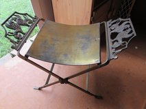 Antique Oscar Bach Style Brass Bench Stool w/ Winged Griffins in Fort Campbell, Kentucky