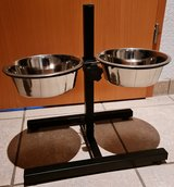 Adjustable height pet bowls in Ramstein, Germany