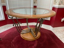 Glass Kitchen Dinette table with 4 Chairs in Fort Bragg, North Carolina