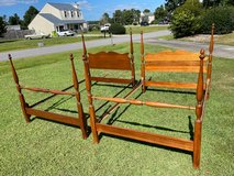 Mahogany set of 2 Matching Full Size Beds in Cherry Point, North Carolina